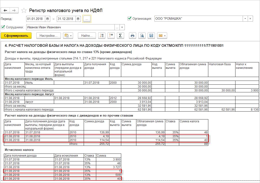 доход ндфл беспроцентный займ