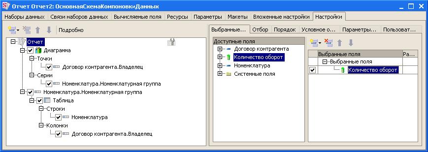 1с 8 схема компоновки данных